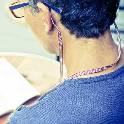 Cordon lunettes Pied de poule