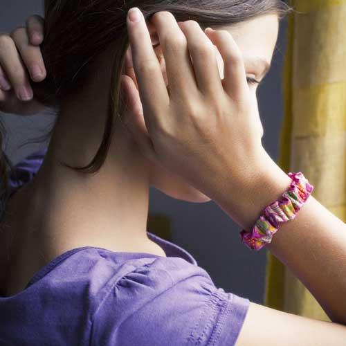 Chouchou élastique cheveux Coeurs