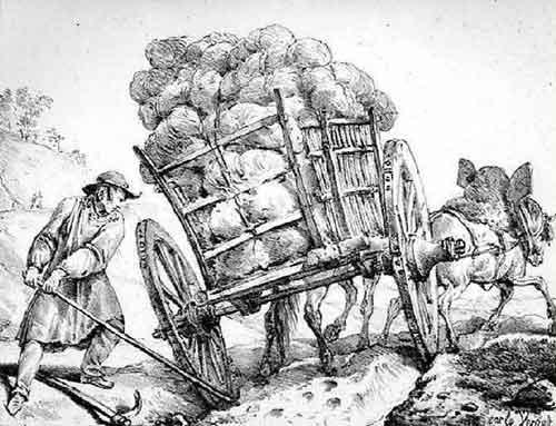 Illustration Le Chartier embourbé, Carle Vernet