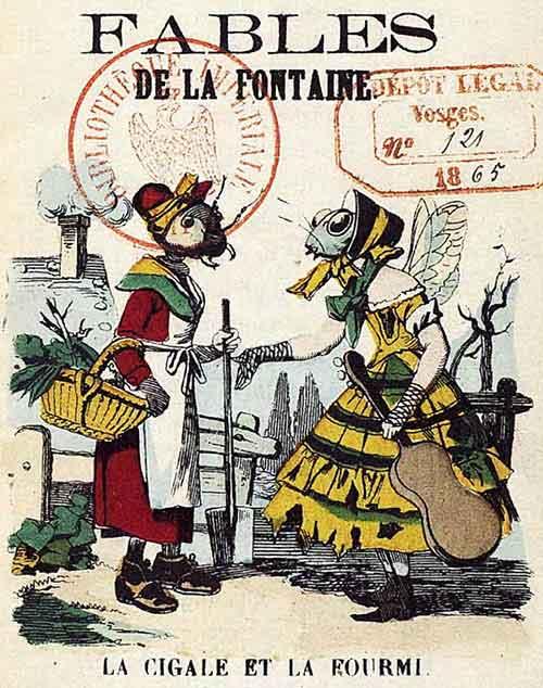 Les fables de la fontaine polkadot - Dessin de cigale ...