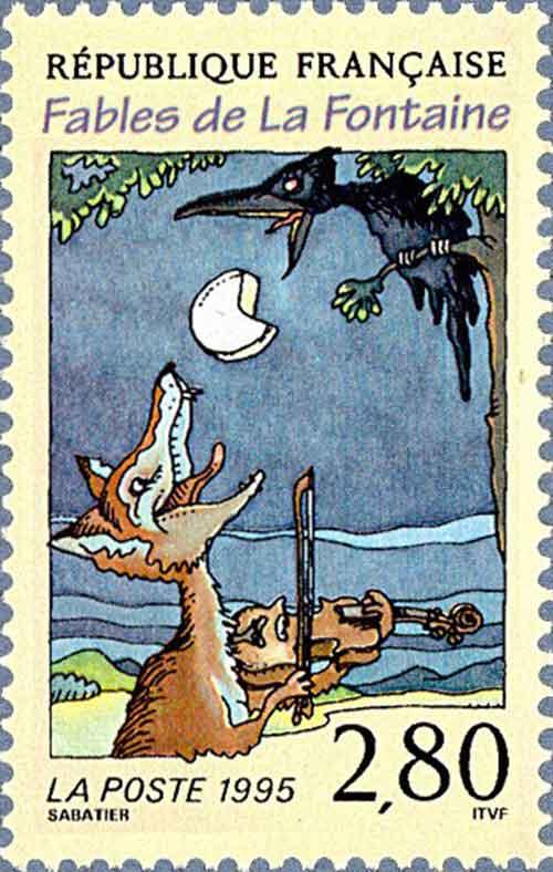 Illustration Le Corbeau et le Renard, Sabatier