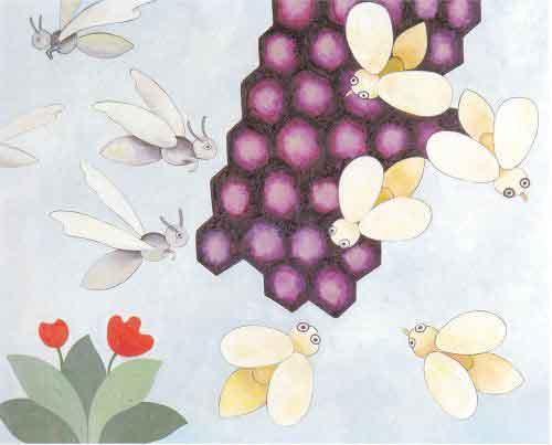 Illustration Les Frelons et les Mouches à miel, Willy Aractingi