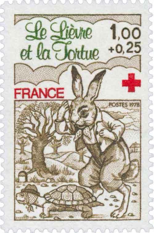 Illustration Le Lièvre et la Tortue, Claude Andréotto