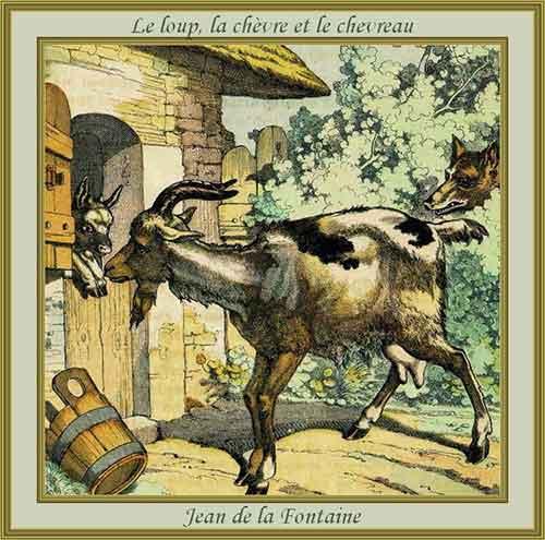 Illustration Le Loup, la Chèvre et le Chevreau, Charles Pinot