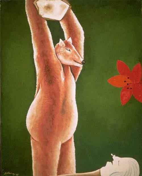 Illustration L'Ours et l'Amateur des jardins, Willy Aractingi