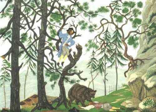 Illustration L'Ours et les deux Compagnons, Lemarié