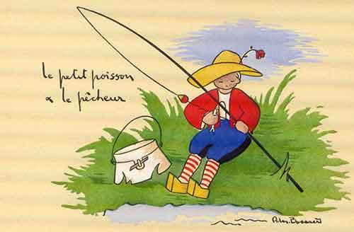 Illustration Le petit Poisson et le Pêcheur », Bossaert