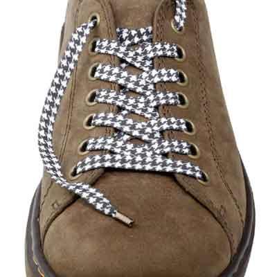 Lacets chaussures Pied de poule
