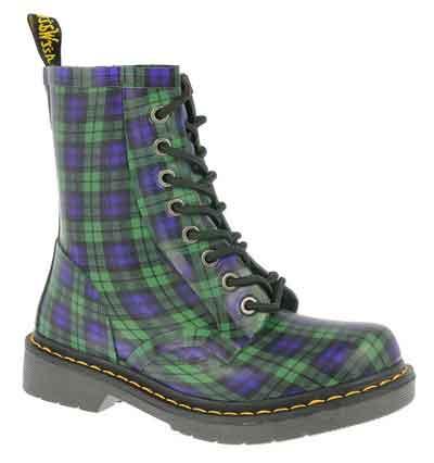 Chaussures Dr Martens motif Ecossais