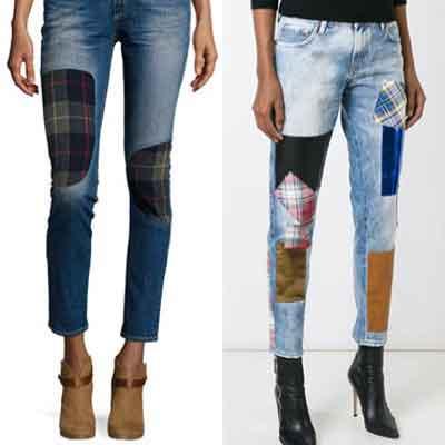 Pantalons rapiécés