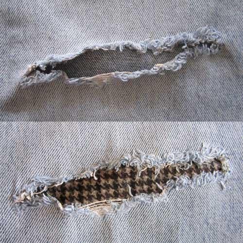 Réparer pantalon avec thermocollant au revers