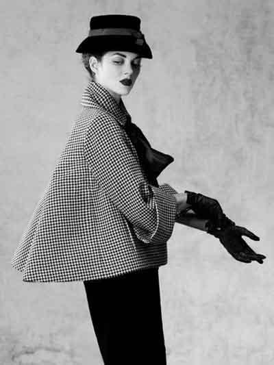 Marion Cotillard manteau Pied de poule