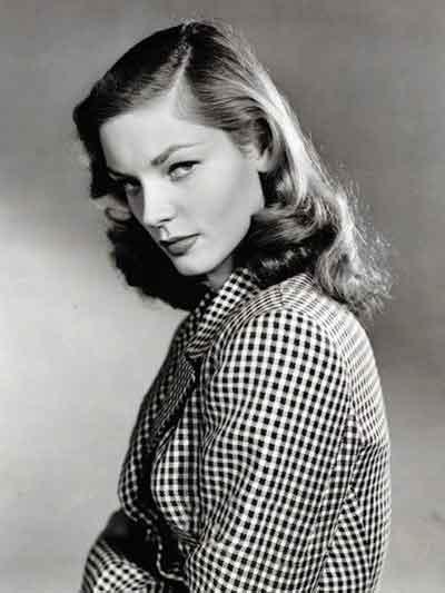 Lauren Bacall veste Pied de poule