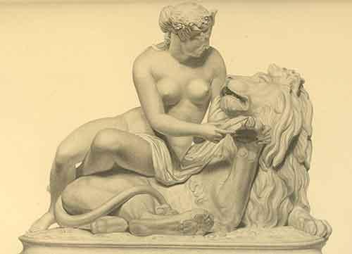 Marbre Le lion amoureux, Guillaume Geefs