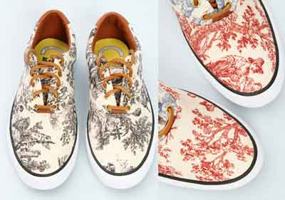 Chaussures Keds toile de Jouy pour Opening Ceremony