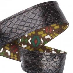 Ruban cuir Boa Batik marron