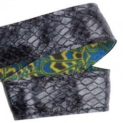 Ruban cuir Boa Batik gris