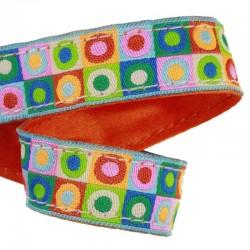 Ruban Pois multicolores fluo