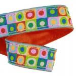 Lanière mousqueton porte-clefs / Antivol sac Pois multicolores fluo
