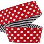 Lanière mousqueton porte-clefs / Antivol sac Pois rouge