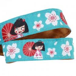 Ruban fleurs Kimono