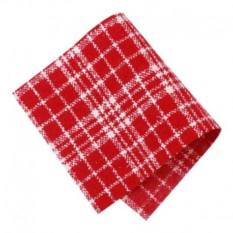 Pièce thermocollante tissu Carreaux rouge