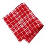 Pièce thermocollante à découper tissu Carreaux rouge