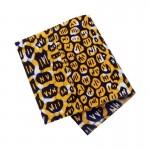 Pièce thermocollante à découper tissu Wax violet et jaune