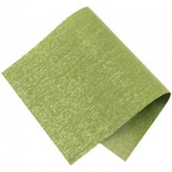 Pièce thermocollante tissu Lurex vert et or