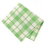 Pièce thermocollante à découper tissu Carreaux vert