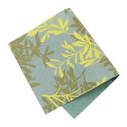 Pièce thermocollante tissu fleurs Feuillage gris