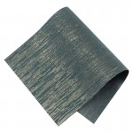 Pièce thermocollante à découper tissu Lurex bleu marine et or