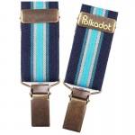 Bretelles pantalon enfant Rayures camaïeu bleu