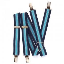 Bretelles Rayures bleu