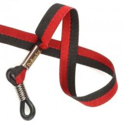 Cordon-lunettes ruban Bicolore rouge et noir