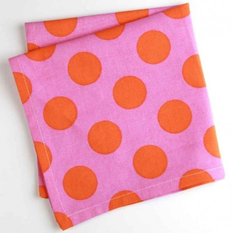 Serviette de table Pois rose