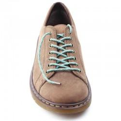 Lacets chaussures élastiques bleu ciel et gris 90cm
