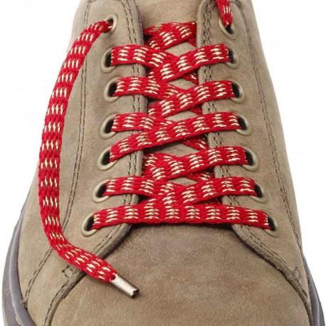 Lacets chaussures Rayures bordeaux lurex or 130cm