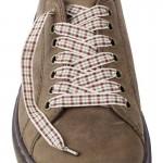 Lacets chaussures Vichy violet 130cm