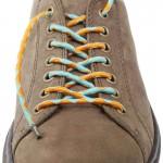 Lacets chaussures élastiques bleu ciel et orange 130cm