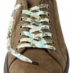 Lacets chaussures Fleurs vert 130cm