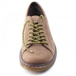 Lacets chaussures élastiques marron et vert 90cm