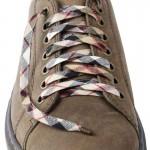 Lacets chaussures Ecossais beige et noir 130cm