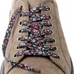 Lacets chaussures Fleurs rose et noir 130cm