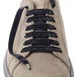Lacets chaussures Lurex noir 130cm