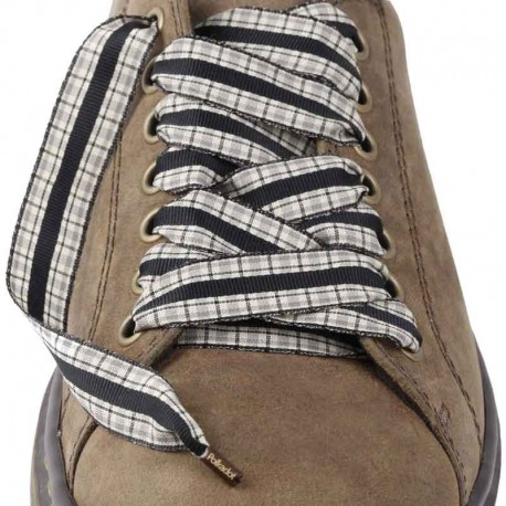 Lacets chaussures Vichy noir 130cm