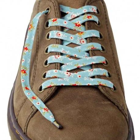 Lacets chaussures Fleurs bleu 130cm