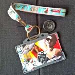 Dragonne porte carte / badge Paris Tour Eiffel