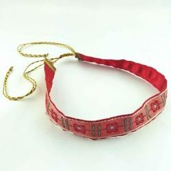 Collier ruban ras du cou fleurs Romance rouge