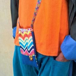 Petit sac bandoulière Pois multicolores fluo
